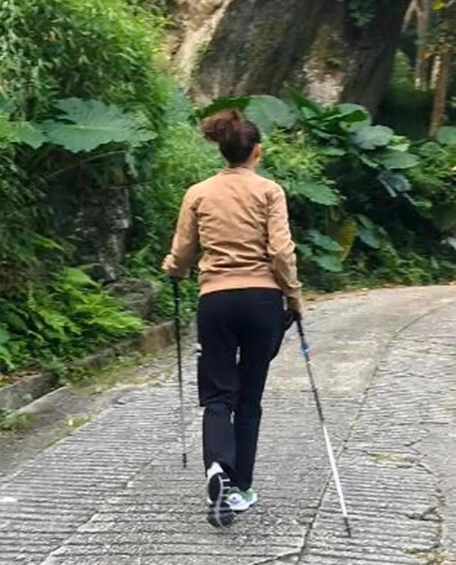 40岁张柏芝晒登山照片,一脸憔悴,强颜欢笑女神风采不再-第2张图片-爱薇女性网