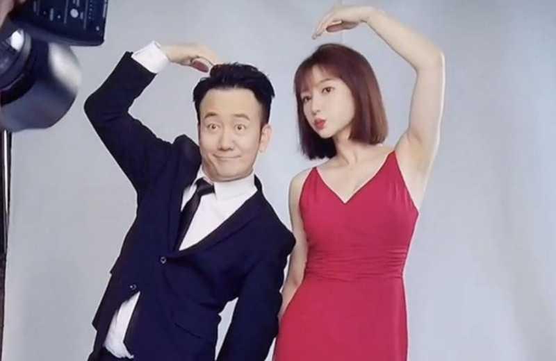 柳岩宣传新电影拍摄特工海报,红色吊带裙超有感觉-第3张图片-爱薇女性网