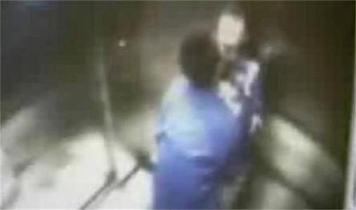 湖南电梯门事件 初中生情侣电梯忘情啪啪全程被拍